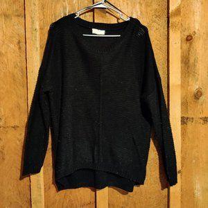 M Black Knit Sweater